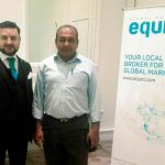 Dr. Zia-al-Hassan With Shaheryar Lodhi The Head Of Business Development For Asia For Equiti Global